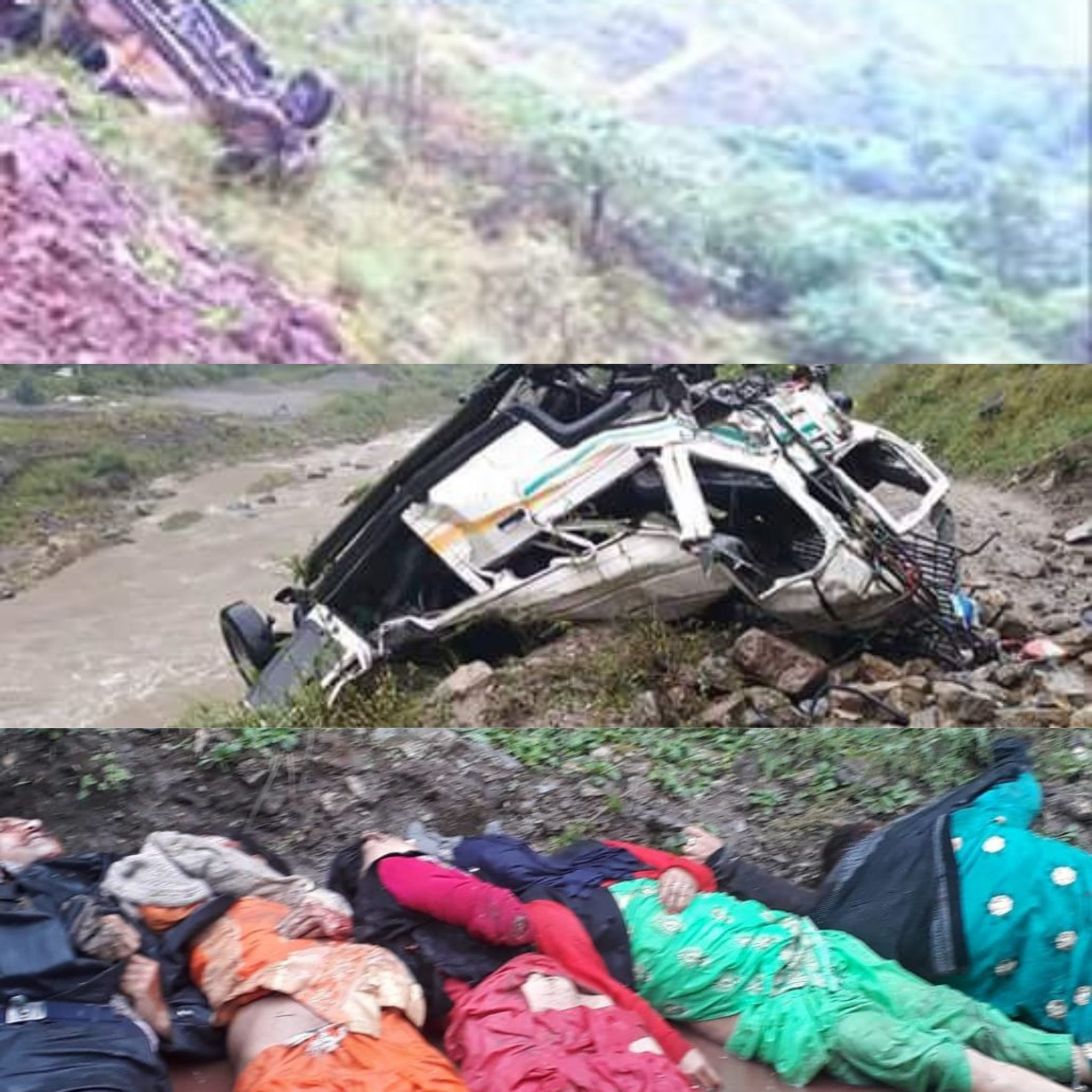हिमाचल- प्रदेश ,जनपद -शिमला में एक टैक्सी को गहरी खाई में गिरने से हुई मौत से बनी लोगो मे दहसत