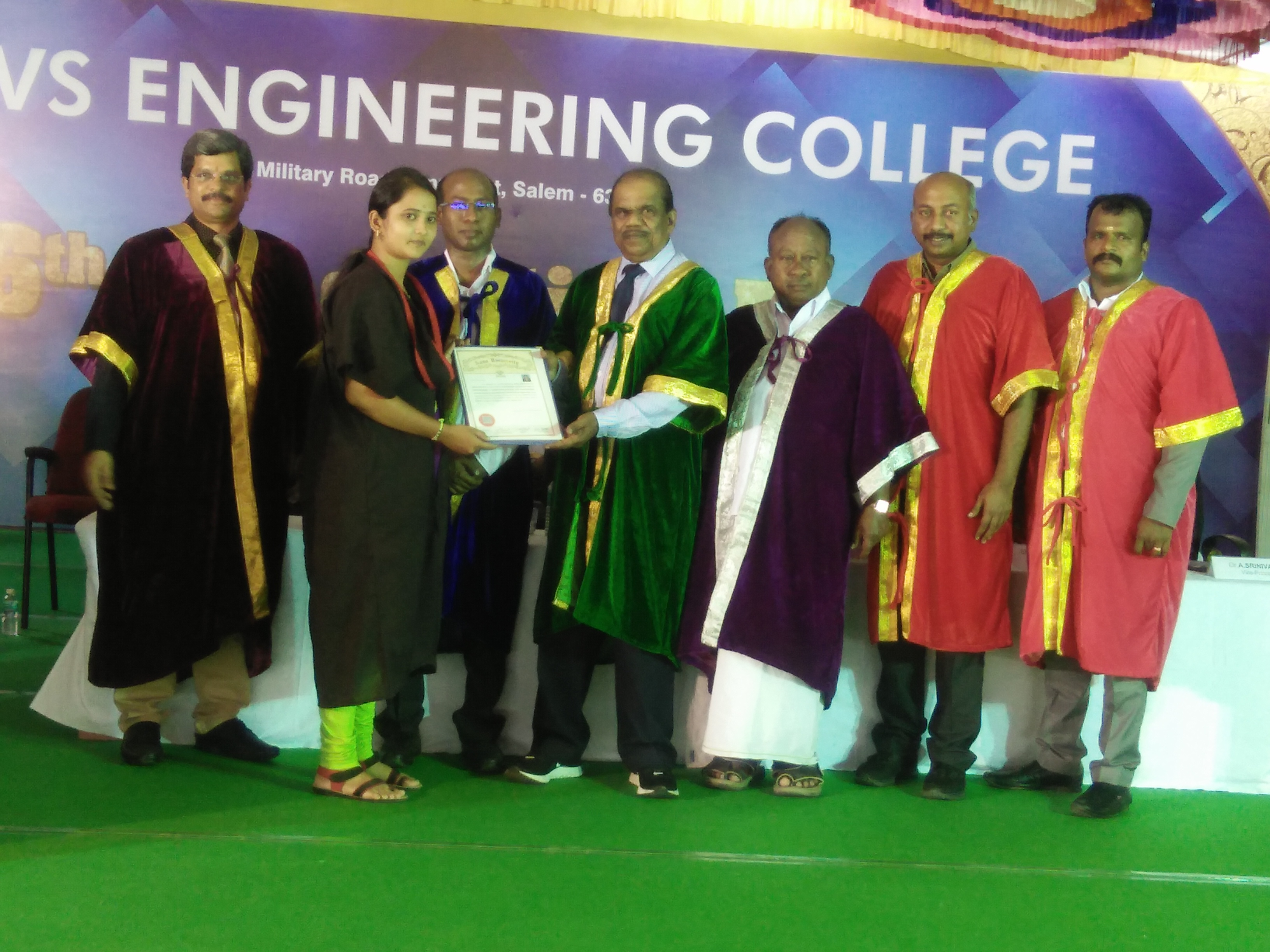 6th Graduation Ceremony @ AVS Engineering College