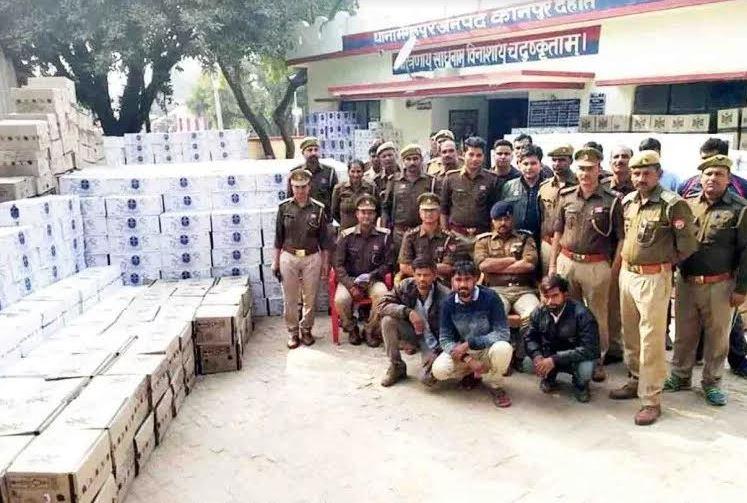 कानपुर पुलिस ने पकड़ी करोड़ों की अवैध शराब