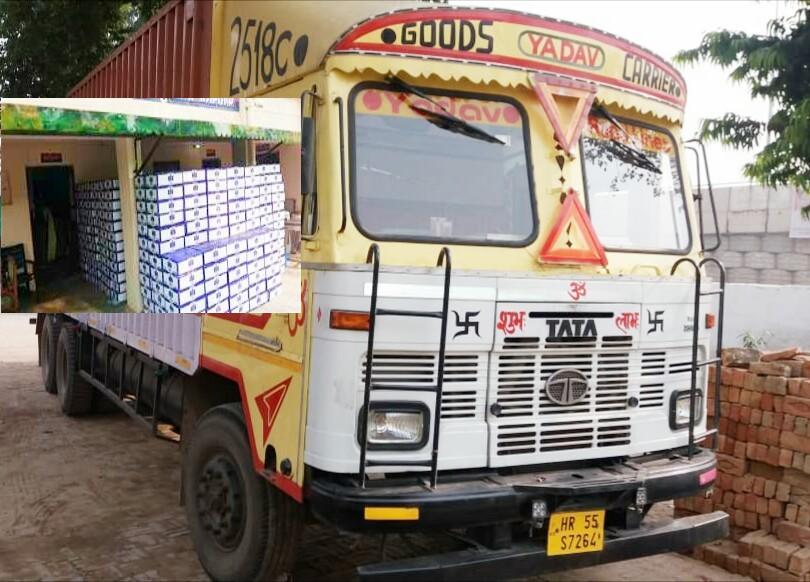 कानपुर पुलिस ने फिर पकड़ी करोड़ो की अवैध शराब की लारी