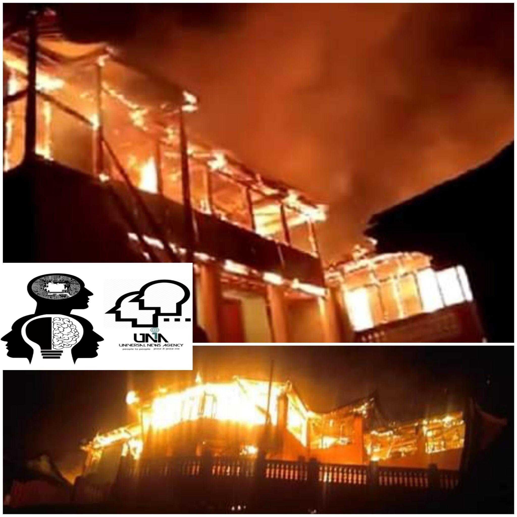 हिमाचल- प्रदेश के चडग़ांव में अचानक आग लगने से 20 घर जलकर खाक